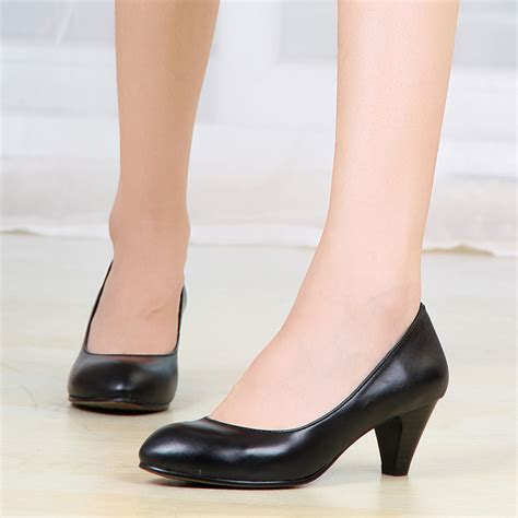 small size shoes 313233 black leather work shoes