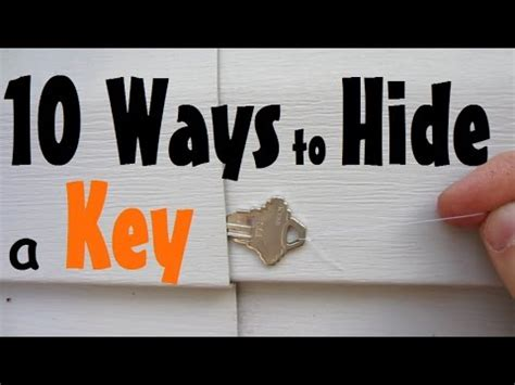 hide a 10 places to hide a spare key
