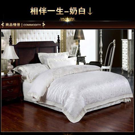 white satin comforter set ᗑluxury white ivory satin jacquard bedding bedding set