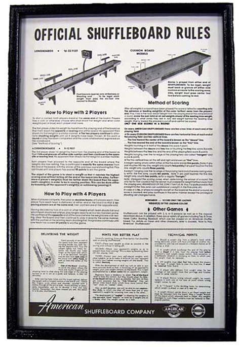Ebay Gift Card Rules - black framed shuffleboard rules ebay