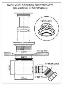 Kitchen Outlet Height by Matki Fast Flow Shower Waste White Grill Lpw90 Buy