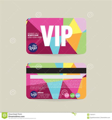 vip member card template membership card template word membership card template