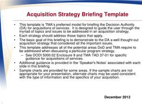 ppt program name acquisition strategy panel template