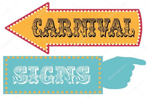Carnival Sign Template Direction Signs Stock Vector 169 Sjhuls 72629489 Direction Signs Template