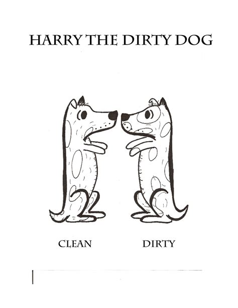 coloring page of harry the dirty dog harry the dirty dog coloring page printable kids coloring