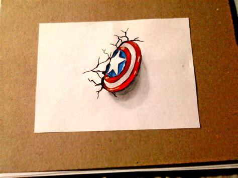 imagenes para dibujar en 3d como dibujar el escudo de capit 225 n am 233 rica 3d dibujemos