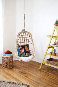 wicker hanging chairs for bedrooms we hung a chair and it s awesome a beautiful mess