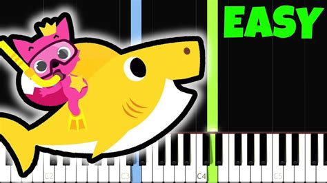 baby shark guitar tutorial baby shark song pinkfong easy piano tutorial