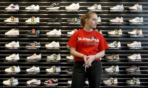 olympic sports sneaker store many of boston squeezed out of tight