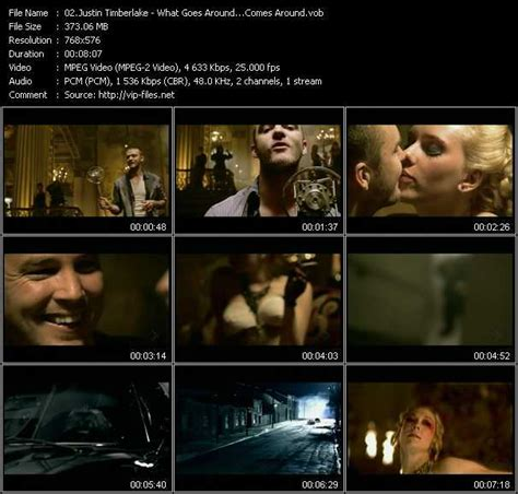 Justin Timberlake What Goes Around Clip by Mixmash Pop March 2007 Vobs Justin Timberlake Videoclip