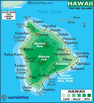 printable road map of big island hawaii hawaii big island map and map of big island hawaii