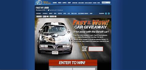 Fast And Loud Trans Am Giveaway - fastnwowgiveaway com fast n wow car giveaway sweepstakes