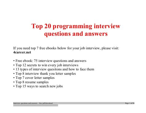 top programming questions and answers tips