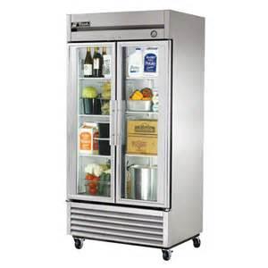 true t 35g 40 quot glass door reach in refrigerator