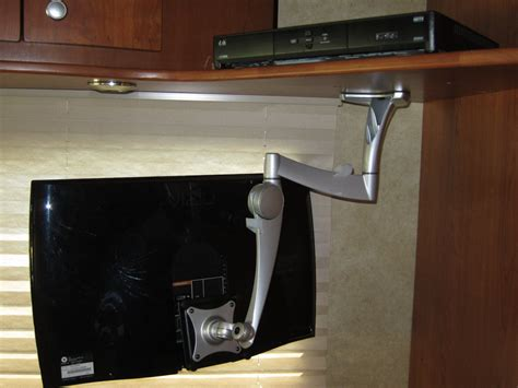 under the cabinet tv for the kitchen multi function kitchen with brown oak kitchen cabinet 2