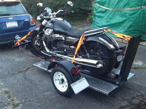 free shipping ultra tow single rail folding motorcycle