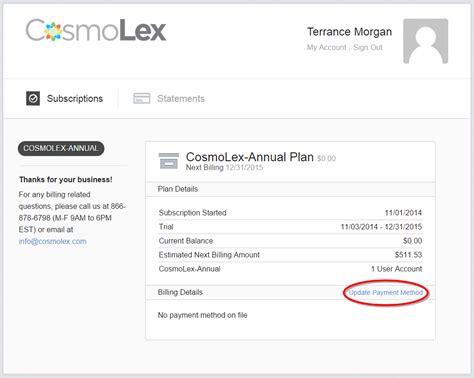 lm help desk updating your payment information cosmolex