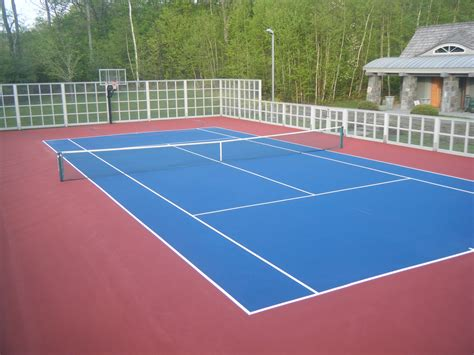 Backyard Tennis Courts by Tennis Court Resurfacing Repair Maine