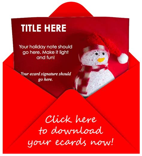 happy holidays email card template free ecard templates to customize for your leads