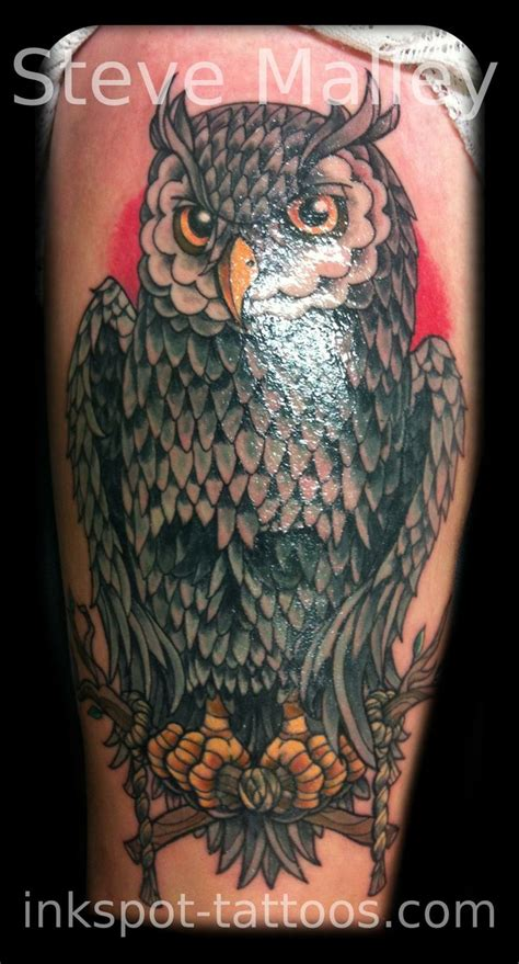 old school owl tattoo design 17 best images about brads owl tattoos on pinterest