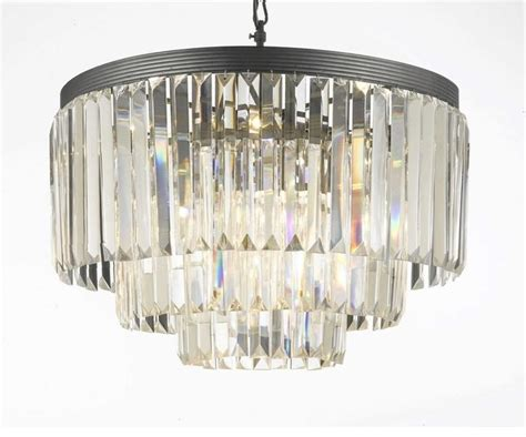 Odeon Crystal Chandelier Odeon Crystal Fringe 3 Tier Chandelier Lighting