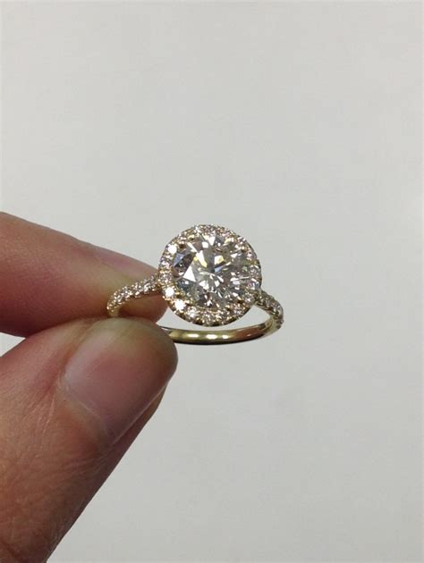 Ring With Diamonds Around It by Halo Ring Halo Ring On Finger