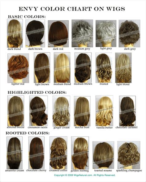 envy color envy wig color chart on wigs