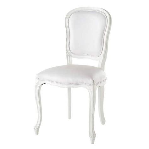 chaise de salle 224 manger blanche versailles maisons du monde