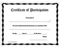 certificate of participation awards certificates templates