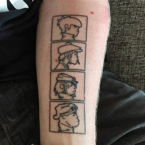 gorillaz tattoo ˏˋ hollysson27 ˊˎ b o d y a r t tattoos