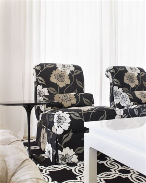 Floral Living Room Chairs Detailed Floral Accent Chairs Transitional Living Room Dallas By Kisabeth Furniture