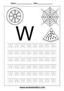 letter w tracing worksheet preschool