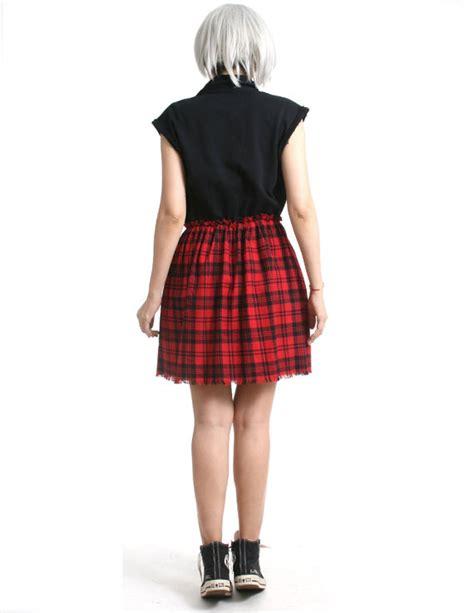 Rok Flanel Tartan cutie sweatshirt tartan flannel button sleeveless