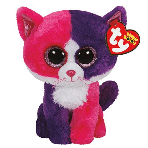 beanie boo ty beanie boos plush pellie the pink and purple cat 13