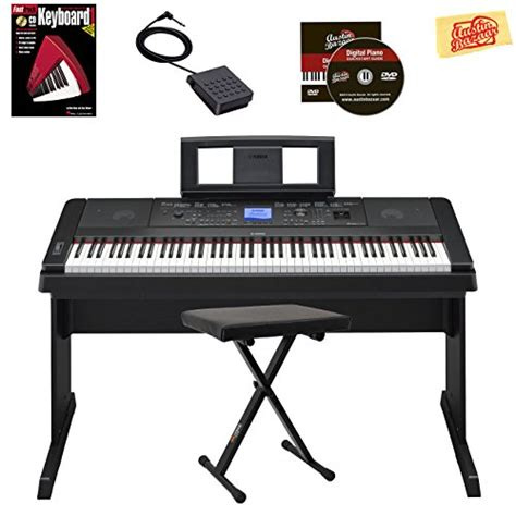 Pedal Keyboard Sustain Match Mp6 galleon yamaha dgx 530 88 key keyboard with matching stand and sustain pedal