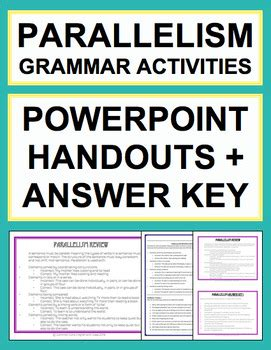 sentence pattern english grammar ppt parallel sentence structure grammar worksheets