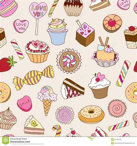 Wallpaper Motif Lolipop 4 与甜点的无缝的模式 库存照片 图片 27433103