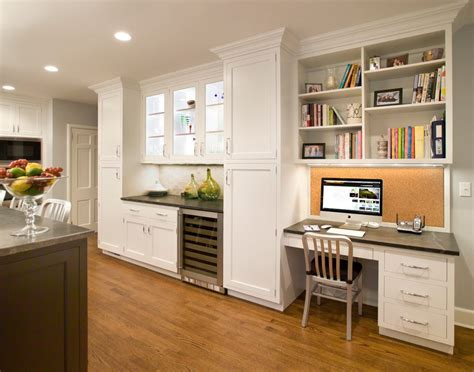 desk with cabinets above built in desks in kitchens kitchen traditional with open