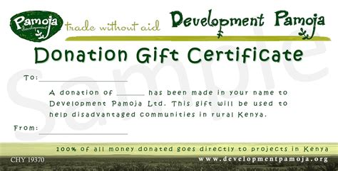 donation gift certificate template certificate of donation template resumer exle