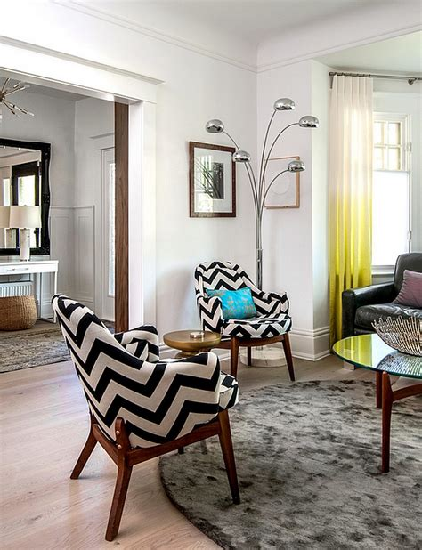 modern side chairs for living room chevron pattern ideas for living rooms rugs drapes and