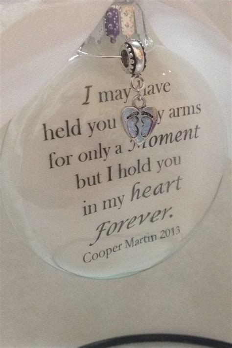 baby loss and christmas in memory miscarriage child loss ornament glass quot i held you for a moment in my