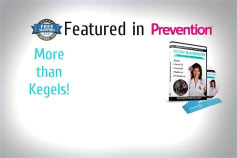 prevention magazine features  day bladder fix pelvic floor exercises dvd  stop leaky bladder