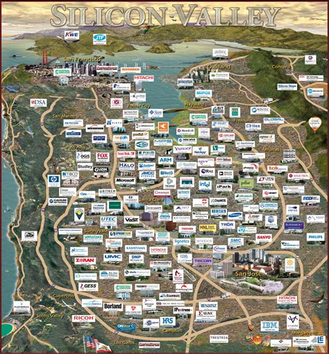 silicon valley map silicon valley unicorns on a map start up