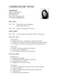 Nih Sle Resume by Format Of Cv Cv Exle