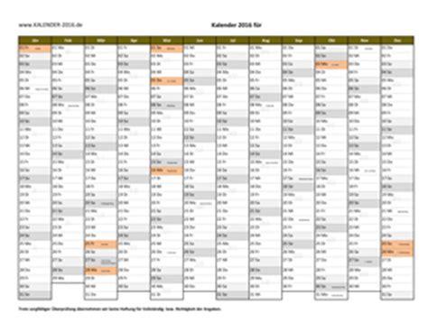 Kalender 2015 Druckversion Kalender 2016 Excel Vorlagen