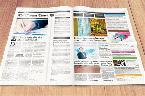 newspaper template compact tabloid indesign templates