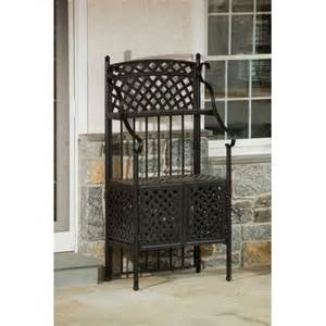 Bakers Rack Outdoor Weave Outdoor Bakers Rack Wayfair