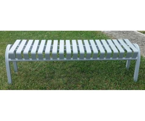 bus stop benches 5 foot backless bus stop bench occ outdoors