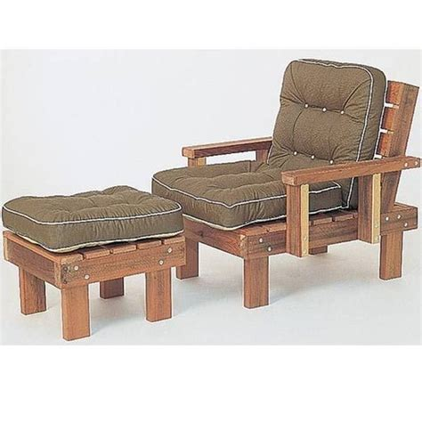 woodworking project paper plan  build redwood chair
