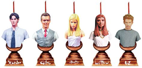 buffy christmas ornaments set cs moore studio buffy